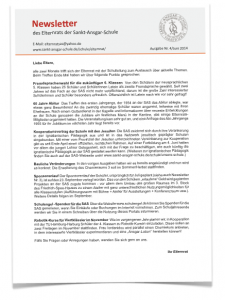Newsletter Elternrat